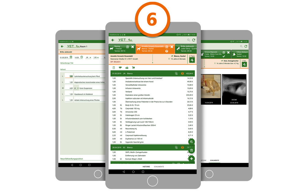 Praxismanagement VET4.0 Beispiel Tablet